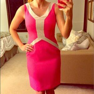 Antonio melani hot pink dress EUC